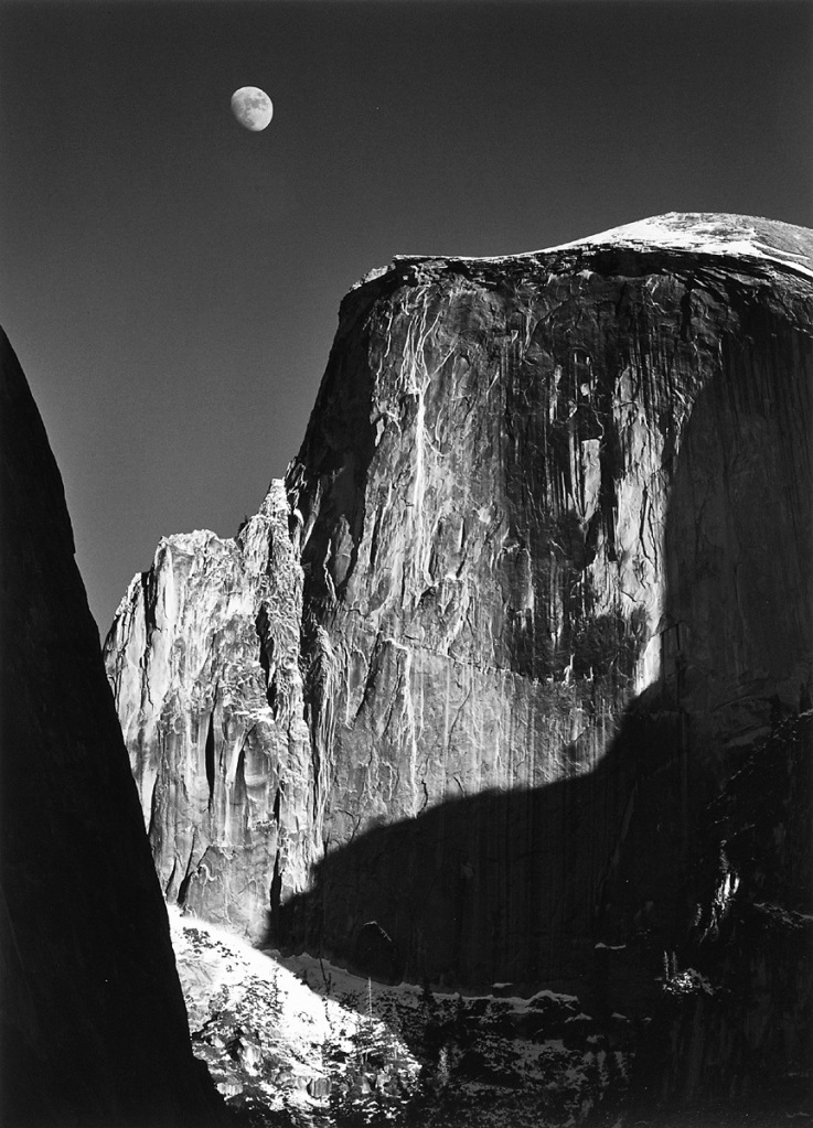 Ansel Adams: Moon and Half-Dome