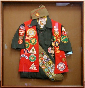 Full regalia for the BSA uniform; although I have all this stuff, I just wore the shirt