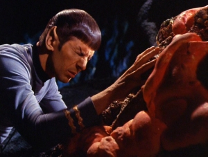 Spock IS able to read minds; however he has to lay his hands on you to do so